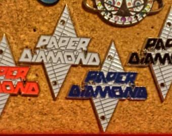 Paper Diamond origami pin (multiple colors)