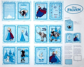 Frozen Panel Fabric Disney Frozen Friends Soft Book Panel Anna Elsa Olaf 100% Cotton