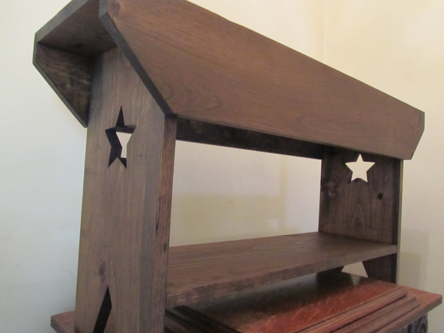 Primitive Star Bench Wedding Bench Country Farm Bench