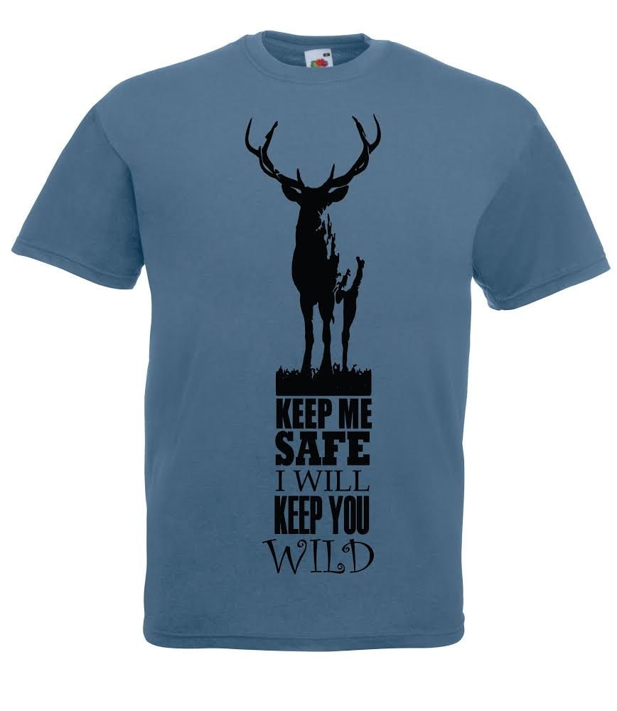 Deer tshirt wildlife conservation t shirt Stag buck antlers