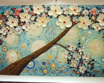 handpainted thick pallet knife  oil painting reproduction on canvas for home decor wall art