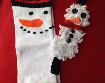 Snowman Girls Headband (headband only)