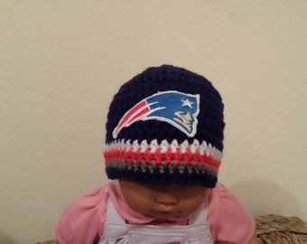 Crochet Patriots baby's hat