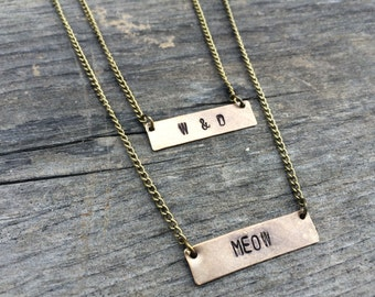 Custom Layered Name Plate Necklace