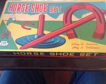 Vintage Toy Horse Shoe Set never used!
