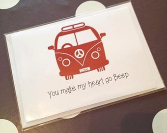Woo your Love with this VW Camper Card