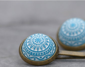 Hair clip Morocco - with turquoise Relief