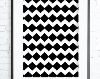 Instant Download Printable, Black pattern Print Art,  Modern Art Print, digital art, Print, Black & White print