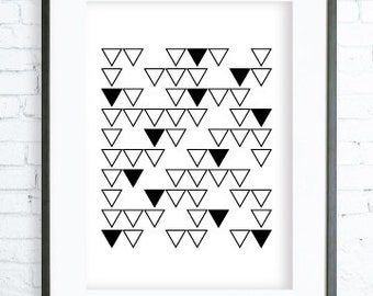 Triangles Pattern, Instant Download Printable, Triangles Art, Print Art,  modern art,  Triangles print, Triangles Printable
