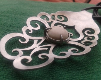 spoon necklace tribal