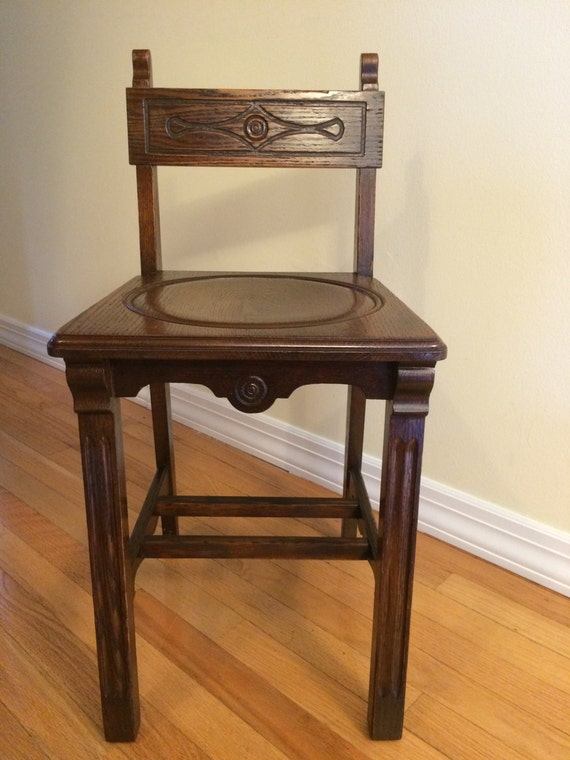Vintage Arts And Crafts Style Telephone Chair By