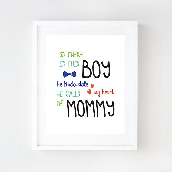 So There Is This Boy - Nursery Room Wall Art, Baby Boy Room, Quotes Boys Room