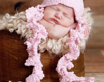 Ruby Ruffle Knit Baby Hat