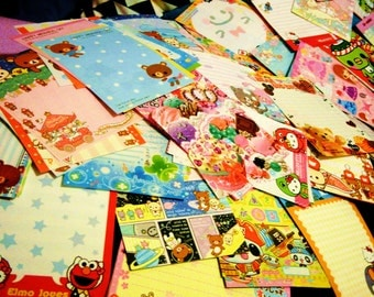 50 Kawaii Large Memo Sheets from Japan + 15 Bonus Mini Memo Sheets - Buyer's Choice Option!