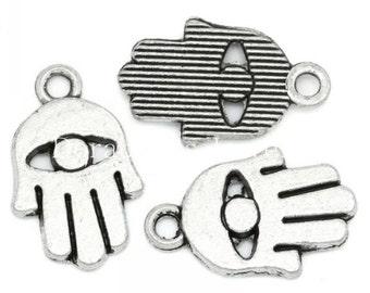 Buddha hands silver 10pcs