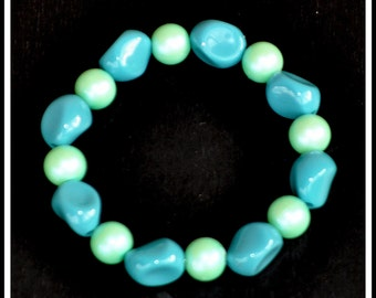 Turquoise and Seafoam Bracelet