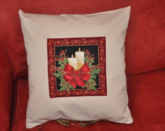 Christmas Decoration Cushion, Advent Christmas pillow, Noel throw pillow, OR only pillow case for 11 Dollar.