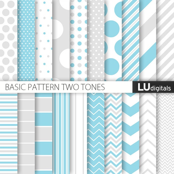 Papier num rique bleu et gris b b gar on scrapbooking - Papel de pared gris ...