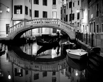 Night Rider in Venice, Italy - Gondola - Photography fine ART print