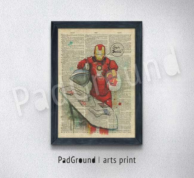 Iron Man Print Marvel Avengers Superhero Poster Home Decor
