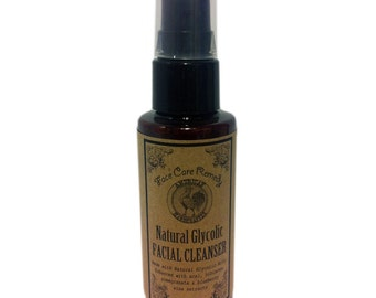 2 oz Natural Glycolic Face Wash - Light Herbal Scent