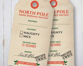 Add on to North Pole Christmas Tags, add custom names (up to 6) must purchase tags as well