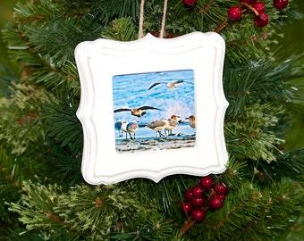 Ornament ~ Newport, Rhode Island, Beach, Christmas Ornament, Teacher Gifts, Nautical Ornament, Christmas Gifts, Secret Santa