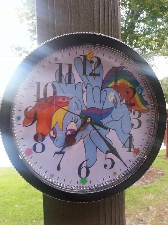 Cute Wall Clock,Cute Girl Room,Rainbow Dash Clock,My Little Pony Clock,Cute Girl Wall Decor,Cute Rainbow Room Decor,My Little Pony,Rainbow