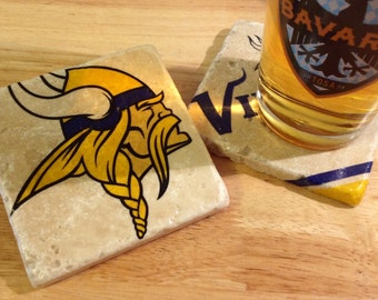 Minnesota Vikings Coasters ~ Set of 4 Football Coasters