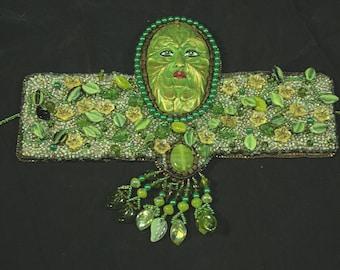 OOAK Green Faced Bracelet