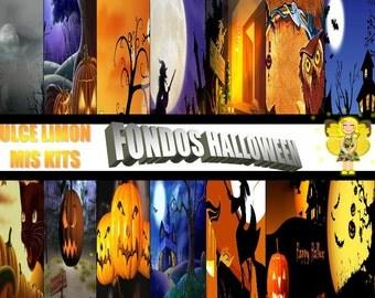 digital backgrounds halloween kit !!