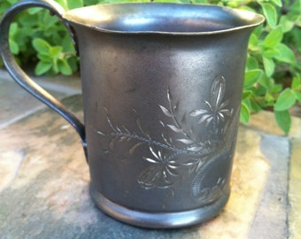 Child's Cup - 1894 - Hard White Metal Company Triple Plate Silver