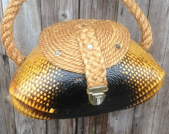 Vintage 1940's Armadillo Purse/ Handbag