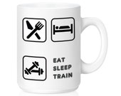 Workout Mug, Training Mug, Weight Lifter, Sports Mug, Motivational Mug, Unique Coffee Mug, Weight Loss Mug, Funny Mug, Gift Idea, 0090