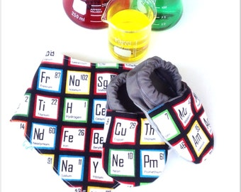 Periodic Table Baby Shoes and Bandanna Gift Set