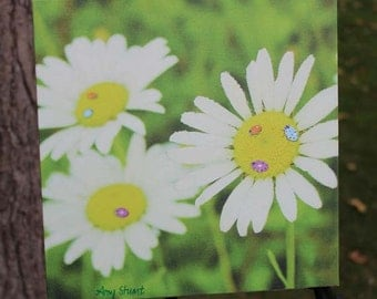 Daisy and Ladybugs Canvas Gallery Wrap