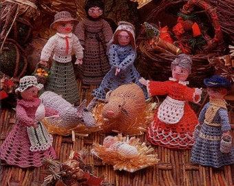 Crochet Patterns Prairie Style Creche Scene Set Spinner Glory Be Peasant Water Girl Part Two PDF Instant Digital e-Pattern