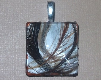 Glass Feather Pendant