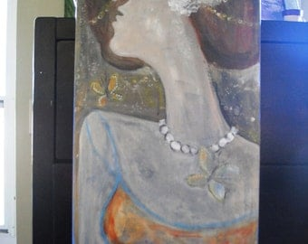 That Girl #10 an Original Mixed Media painting by Leslie Flynn