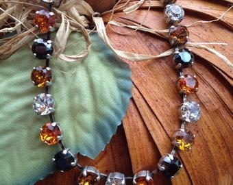 Swarovski crystal Halloween necklace