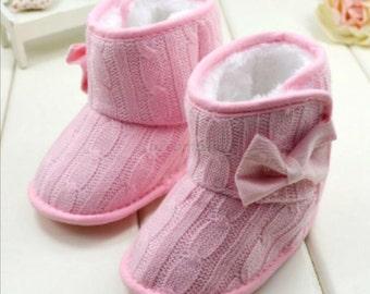 Pink boots 12-18 months