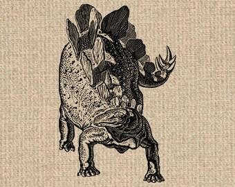 INSTANT DOWNLOAD Printable Dinosaur Images Dinosaur Print Dinosaur Graphics Dinosaur Clipart Stegosaurus Image Digital Sheet 300dpi HQ