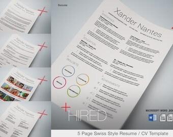 Photographer Resume Template Photoshop PSD Instant Download - Photographer resume template