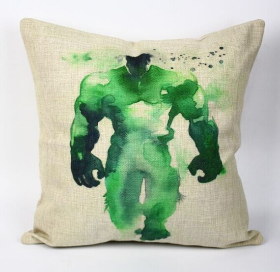 Hulk pillow cover Avengers Justice League superhero by acsoul