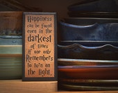 Happiness Sign/Plaque.  Great gift item for Harry Potter fans!