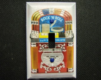 Light Switch Cover 1950s Jukebox Print