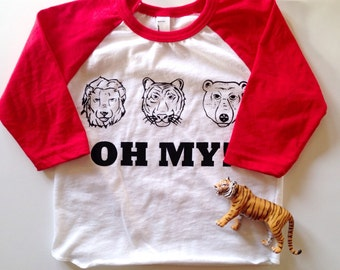 OH MY! Raglan/Lions, Tigers, Bears/Wizard of Oz Kids Shirt