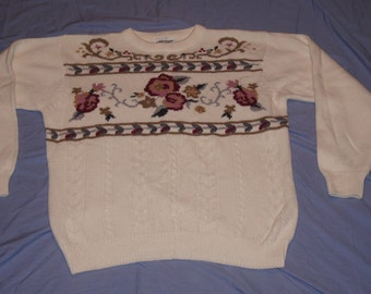 Vintage 1970's - Alfred Dunner Festive Sweater XL