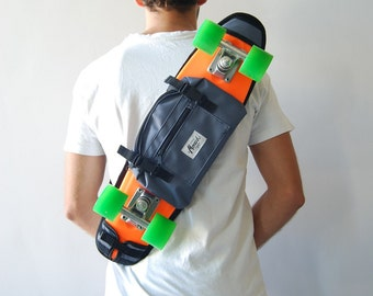 Skateboard backpacks and bum bags for boys and girls, grey