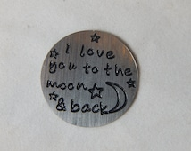 """Floating Locket Plate """"I love you to the Moon"""""""